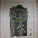 "12"" deluxe wreath -3 cones-  front door"